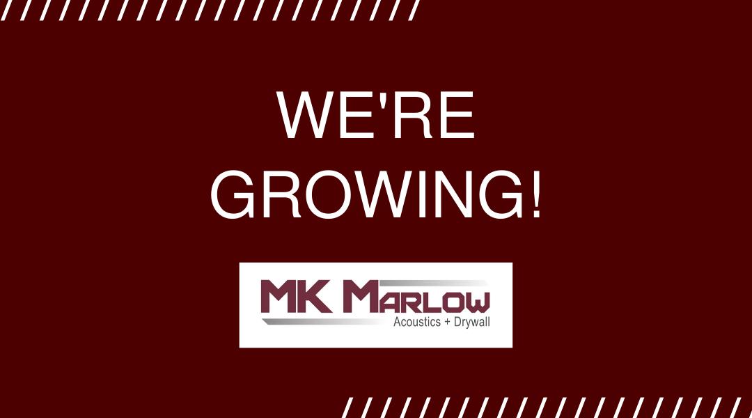 MK Marlow is Growing!