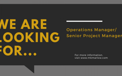 Now Hiring- Operations Manager/Senior Project Manager