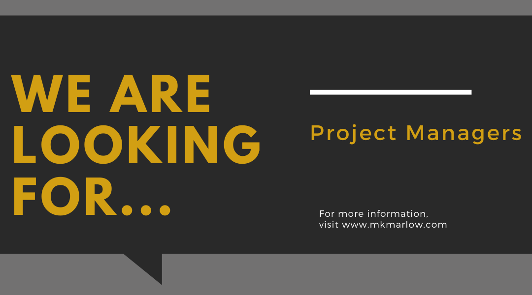Now Hiring Project Managers